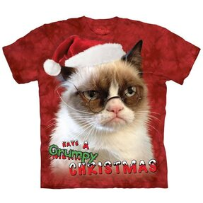 Holiday Grumpy Cat with text