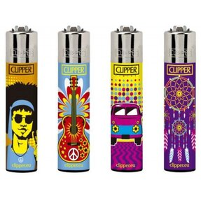 Zapaľovač CLIPPER® Hippie Passion 4ks
